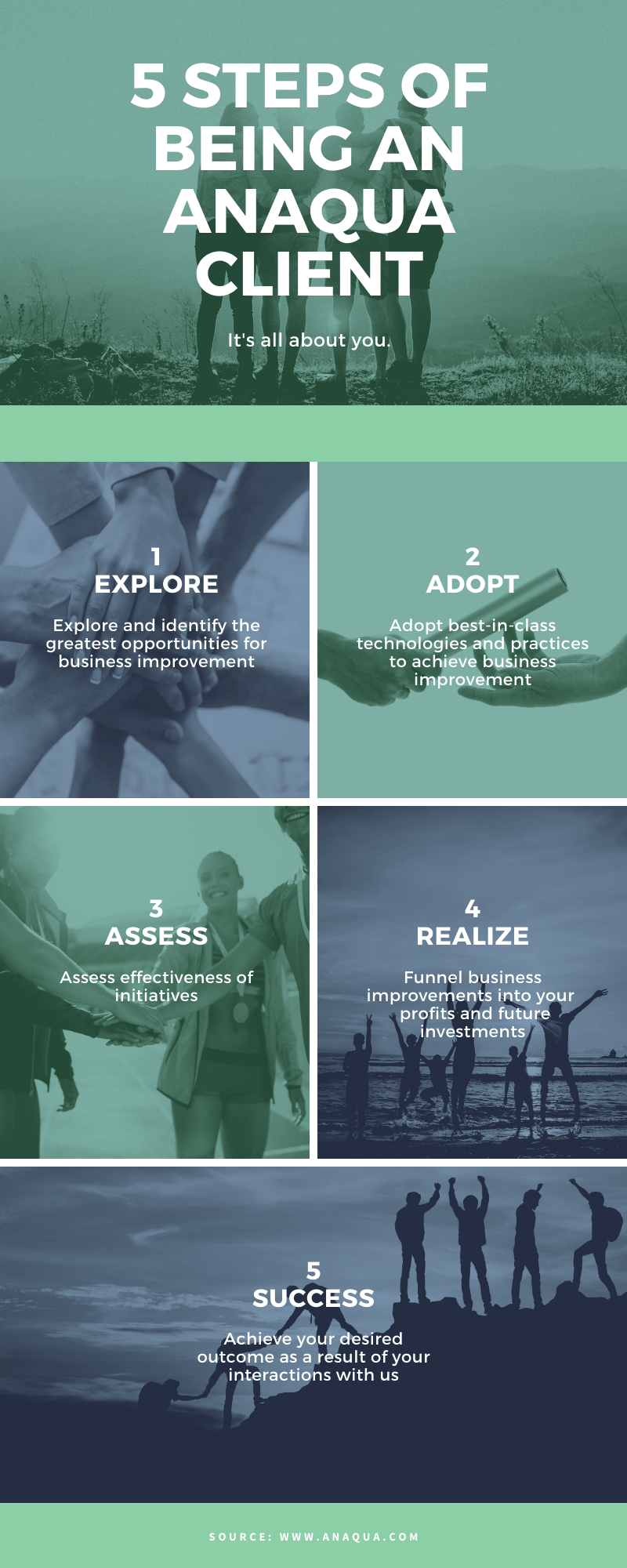 5 Steps of Being an Anaqua Client - Infographic