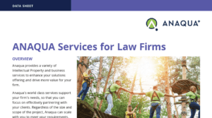 ANAQUA Services for Law Firms Data Sheet